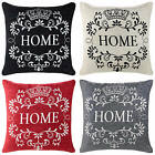 """VINTAGE HOME LUXURY CHENILLE CUSHION COVERS 18"""" x 18"""" RED BLACK CREAM GREY"""