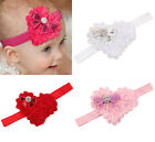 Baby Girl Kids Rose Heart Rhinestone Headband Hair Band Accessories Photo Props
