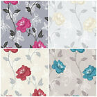 Crown Millie - Feature Butterfly - Flower Wallpaper - 4 Colours - Shabby Chic