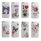 Cartoon Floral Butterfly Transparent Diamond Cover Case For Apple iPhone 5 5S