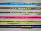 "5 yards of Razzle 5/8"" Wide Offray Grosgrain Reflective Ribbon 6 Assorted Colors"