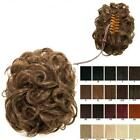 Claw clip in on clamp curly bun updo hairpiece Various colours for sale  Derby