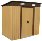 Woodside Elmwood Metal Garden Pent Roof Shed with FREE Foundation