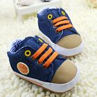 Infant baby boy cowboy blue crib shoes Sports shoes size 0-6 6-12 12-18 months