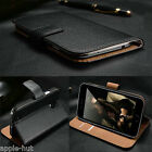 Real Genuine Leather Flip Wallet Slim Case Cover For New iPhone 5/5s/6/6 Plus