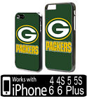 Green Bay Packers Football iPhone 4 4s 5 5s 6 6s 7 7 Plus Plastic Phone Case gb3