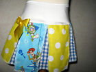 New Girls White yellow blue Toy Story Spots Check Cheerleader Skirt gift party
