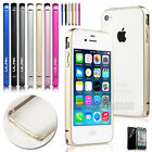 For Apple iPhone 4 4S Ultra-thin Aluminum Metal Hard Protective Frame Bumper