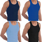 Mens Vest Tank Top Summer Gym Training Pure Cotton Sleeveless T-Shirt Athletic