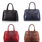 Ladies Women's fashion style designer celebrities's Faux Crocodile Skin Handbag