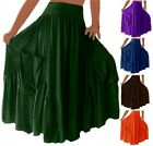 @Q4551 SKIRT DRESS RUFFLED POCKETS CLASSY ELASTIC WAIST FASHION ART MADE 2 ORDER