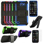 For Huawei Fusion 3 4G LTE Phone Case Rugged Cover Stand Holster Screen Guard