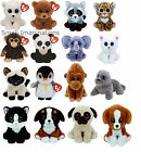 Ty Beanie Babies Collection Soft Plush Toy - Ava the Cat - Rufus Pug Dog