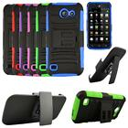 Phone Case For AT&T Huawei Fusion 3 4g LTE Rugged Cover Stand Holster Belt Clip