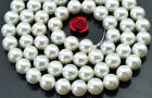 Natural sea White shell Pearl Round Beads 8mm 10mm 12mm 14mm 16mm 18mm 20mm