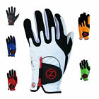2 x Zero Friction Men's Compression Golf Gloves x 2 One Size Fits All, 6 Colours