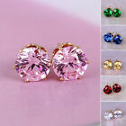 rare wholesale jewelry cubic zirconia plated round ear accessories stud earrings