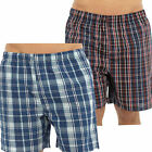 2 Pack Mens Check Woven Lounge Shorts Pyjama Bottoms Pants l Check Summer HT345