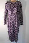 M&S Purple Mix Tight Shift Straight Party Dress Gown (NEW) UK size 10 £39.50
