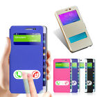 For Samsung Galaxy Note Edge N9150 Window Leather Cover Stand Flip Case Hottest