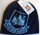 WEST HAM OFFICIAL SKI HAT WOOLLY BEANIE,NEW, ONE SIZE FITS NAVY BLUE ONLY