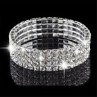 Swarovski Elements 18K White Gold Plated 4-row Crystal Bracelet