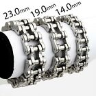 14/19/23MM Mens Chain Silver Tone Stainless Steel Biker Motorcycle Link Bracelet