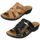 Ladies Leather Clark Sandals 'Leisa Bloom' 2 Colours- D Fitting- Great Price!