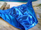 Stretch Satin Pouch with Shiny Mystique Back Sides Bikini Brief Rio or thong USA