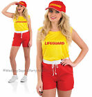 8-22 Sexy Lifeguard Costume Ladies Fancy Dress Hen Night Beach Party 80s Outfit