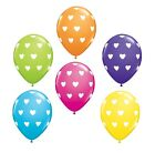 6 x Bunte Herzen Latex Ballons (Helium/Luft)(Valentinstag/Party/Love) Qualatex