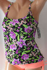 *NEW Island Escape Purple Black Add a size Tankini Swim Top size Sz 6 8 10  IS4