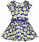 Girl's Daisy Floral Short Sleeve Dress with Belt Summer Fashion 7-13 Years NEW