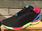 New Adidas Originals ZX Flux Core Black Green Men Fashion Shoes B34490 UK6.5-10