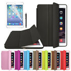 For iPad Air 2 Slim Genuine Leather Smart Case Cover Stand+Film Pen Set Brand Ne