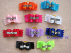 NEW Dog bows pet Grooming hair gift Pet charms With reflective Accessories #B3