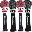 New - TaylorMade Golf 2015 Argyle Pom Pom Retro Driver Headcover