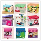 Children Toys Dolls Clothes Storage Box Nursery Supplies Tidy Handle Foldable Z