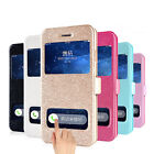 Window Leather Flip Case Cover Skin for iPhone 6 Plus 5.5 Inch Lovely