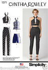 Simplicity 1371 Sewing Pattern Cynthia Rowley Sports Crop Top Shorts Ladies 4-20
