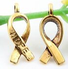Wholesale 52/116Pcs Tibetan Gold Tie Charms 18x7mm(Lead-free)