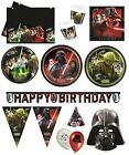 STAR WARS Birthday PARTY HEROES & VILLAINS Tableware Balloons Decorations