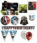 STAR WARS Birthday PARTY NEW RANGE (Tableware Decorations & Balloons)