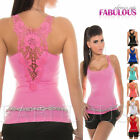 New Sexy Womens Lace Crochet Top Size 6 8 10 Casual Party Summer Clubbing XS S M