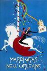 Mardi Gras New Orleans Horse Advertising Vintage Poster Repro FREE SHIPPING