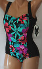 *NEW Beach Diva Black Multi One piece Women's Swimsuit Bathing suit 8 12 14