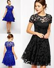 NEW Women Fashion Summer Floral Lace Sexy dress casual vestidos Party Dress