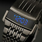 US INFANTRY Mens LED Light Digital Quartz Sport Army Wrist Watch Stainless Steel
