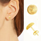 14k Yellow Gold Faceted Ball Post Stud Earrings 4mm, 5mm, 6mm