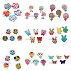 50/250pcs Mix Lots Color Charms Cute Patterns Wooden Embellishments Scrapbooks C